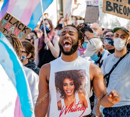 Protesters march for Black Trans Lives Matter rally