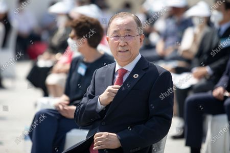 Ban Ki-moon, former Secretary-General of the United Nations attends the 70th anniversary of the Korean War in Seoul, South Korea.