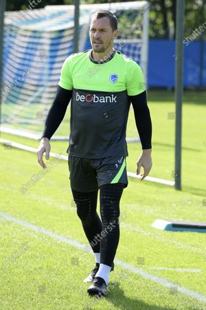 Genk's goalkeeper Daniel Danny Vukovic pictured during the first training session for the new season 2020-2021 of Jupiler Pro League first division soccer team KRC Genk, Monday 15 June 2020 in Genk.
