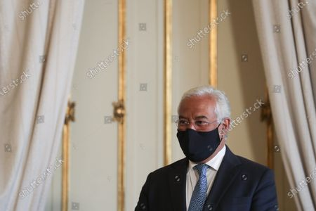 Portuguese Prime Minister Antonio Costa attend to the taking office ceremony of the new Minister of State and Finance and the new Assistant Secretaries of State at Belem Palace in Lisbon, Portugal, 15 June 2020. This is the first remodelling of the XXII Government, and was triggered by the departure of Mario Centeno from the position of Minister of State and Finance, at his request. The new Minister of State and Finance, Joao Leao, and the new Secretaries of State for the Budget, Claudia Joaquim, of Finance, Joao Nuno Mendes, and Treasury, Miguel Cruz and the Assistant Secretary of State and Finance, Antonio Mendonca Mendes, take office at the ceremony.