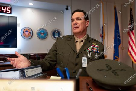 Stock Picture of Patrick Warburton as Commandant of the Marine Corps