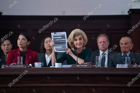 Stock Image of Ginger Gonzaga as Anabela Ysidro-Campos, Concetta Tomei as Rep. Pitosi and Tommy Cook as Rep. Bob White