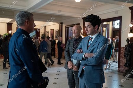 Steve Carell as General Mark R. Naird, John Malkovich as Dr. Adrian Mallory and Ben Schwartz as F. Tony Scarapiducci