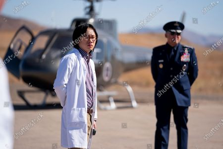 Jimmy O. Yang as Dr. Chan Kaifang and Steve Carell as General Mark R. Naird