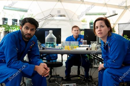 Asif Ali as Capt. Dave Powers, Michael Hitchcock as Jerome Lalosz and Alice Wetterlund as Maj. Jane Pike