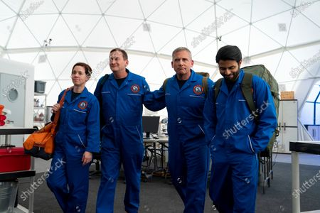 Alice Wetterlund as Maj. Jane Pike, Michael Hitchcock as Jerome Lalosz, Steve Carell as General Mark R. Naird and Asif Ali as Capt. Dave Powers