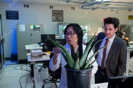 Jimmy O. Yang as Dr. Chan Kaifang and Ben Schwartz as F. Tony Scarapiducci