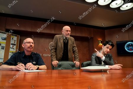Don Lake as Brad Gregory, John Malkovich as Dr. Adrian Mallory and Ben Schwartz as F. Tony Scarapiducci
