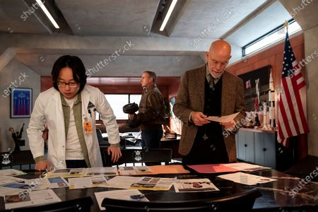 Jimmy O. Yang as Dr. Chan Kaifang, Steve Carell as General Mark R. Naird and John Malkovich as Dr. Adrian Mallory