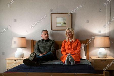 Steve Carell as General Mark R. Naird and Lisa Kudrow as Maggie Naird