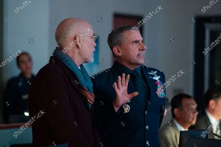 John Malkovich as Dr. Adrian Mallory and Steve Carell as General Mark R. Naird