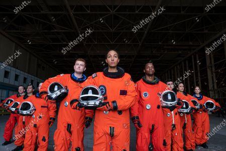 Chris Gethard as Eddie Broser, Owen Daniels as Obie Hanrahan, Tawny Newsome as Captain Angela Ali, Hector Duran as Julio Díaz - José, Tamiko Brownlee as Bryce Bachelor and Amanda Lund as Female Astronaut Anna