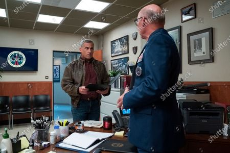 Steve Carell as General Mark R. Naird and Don Lake as Brad Gregory