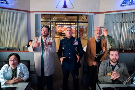 Jimmy O. Yang as Dr. Chan Kaifang, Punam Patel as Dr. Ranatunga, Paul Jurewicz as Dewey Pantowski, Steve Carell as General Mark R. Naird, John Malkovich as Dr. Adrian Mallory, Don Lake as Brad Gregory and Thomas Ohrstrom as Dr. Vandeveld