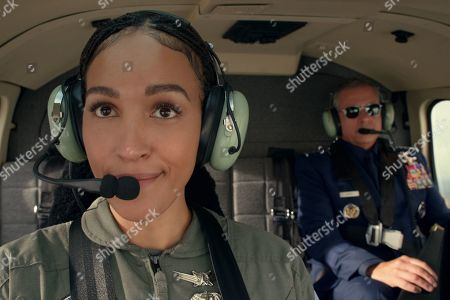 Tawny Newsome as Captain Angela Ali and Steve Carell as General Mark R. Naird
