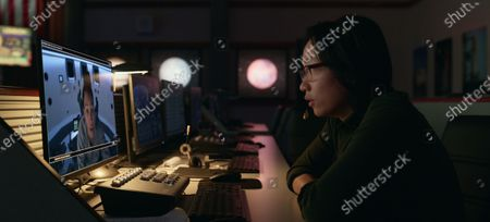 Stock Picture of Tawny Newsome as Captain Angela Ali and Jimmy O. Yang as Dr. Chan Kaifang