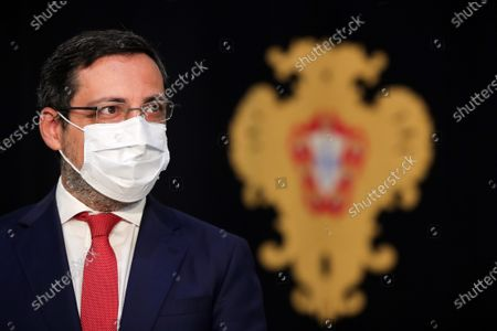 The new Assistant Secretary of State and Tax Affairs Antonio Mendonca Mendes after the taking office ceremony at the Belem Palace in Lisbon, Portugal, 15 June 2020. This is the first remodelling of the XXII Government, and was triggered by the departure of Mario Centeno from the position of Minister of State and Finance, at his request. The new Minister of State and Finance, Joao Leao, and the new Secretaries of State for the Budget, Claudia Joaquim, of Finance, Joao Nuno Mendes, and Treasury, Miguel Cruz and the Assistant Secretary of State and Finance, Antonio Mendonca Mendes, take office at the ceremony.