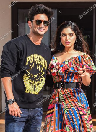 Bollywood actors Sushant Singh Rajput and Bhumi Pednekar pose for photos during the promotion of his upcoming Hindi film 'Sonchiriya' in Mumba, India, 07 January 2019 (issued 15 June 2020). According to reports, Rajput was found dead at his Mumbai residence on 14 June 2020.