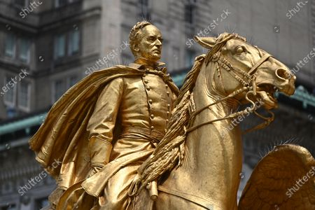 Editorial picture of New York's iconic statues, USA - 15 Jun 2020