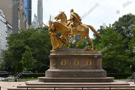 Editorial photo of New York's iconic statues, USA - 15 Jun 2020