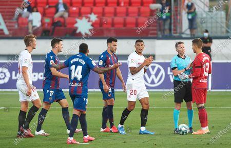 Editorial image of Levante UD v Sevilla FC, La Liga, Football, Camilo Cano Stadium, Alicante, Spain - 15 Jun 2020