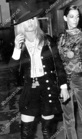 Brigitte Bardot French Actress Brigitte Bardot Pictured With Francoise Hardy Arriving At A London Airport..