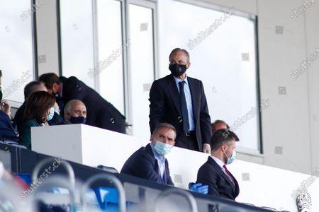 Florentino Perez, President of Real Madrid, looks on
