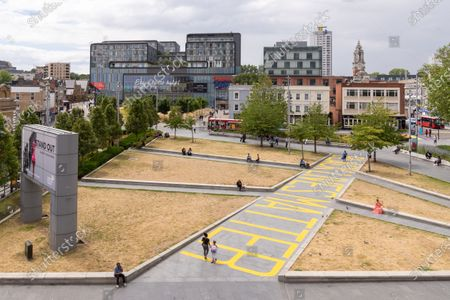 'Black Lives Matter' sign painted at General Gordon Square in Woolwich