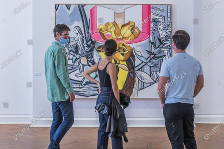 David Salle, Serenade, 2019 - Galerie Thaddaeus Ropac reopens its London gallery. The gallery present a large selection of works, mostly from the 2020 presentation at Art Basel online.