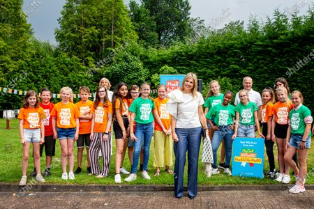 Stock Image of Queen Maxima is present at the signing of the Hoeksche Waard Music Agreement. An initchative of Meer Muziek in de Klas that aims to achieve structural music education for all 1.6 million primary school children in the Netherlands.