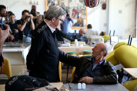 Editorial picture of Jean-Luc Melanchon press conference, Marseille, France - 15 Jun 2020