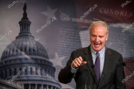 Sen. Chris Van Hollen, D-Md., speaks during a news conference on Capitol Hill, in Washington