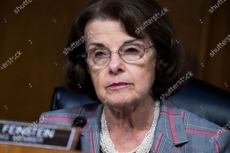 "United States Senator Dianne Feinstein (Democrat of California), Ranking Member, US Senate Judiciary Committee, attends the US Senate Judiciary Committee hearing titled ""Police Use of Force and Community Relations,"" in Dirksen Senate Office Building in Washington, D.C.,."