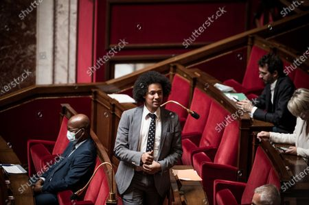 Stock Picture of Pierre-Alain Raphan, French National Assembly, session of Questions to the Government, Palais Bourbon
