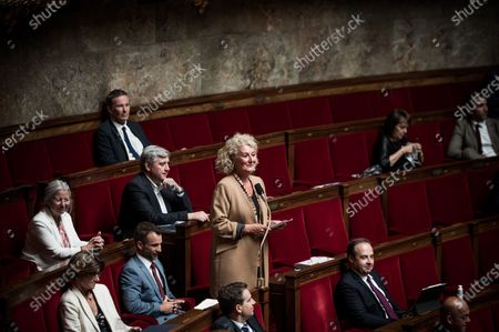 Stock Image of Sophie Auconie, French National Assembly, session of Questions to the Government, Palais Bourbon