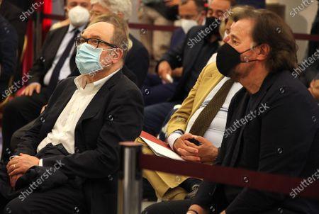 Stock Picture of Carlo Verdone and Christian De Sica