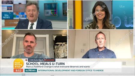 Piers Morgan, Susanna Reid, Jamie Carragher and Ray Parlour