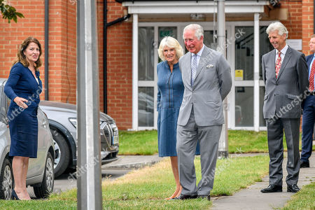 Prince Charles and Camilla Duchess of Cornwall arrive at Gloucestershire Royal Hospital as they meet front line key workers who who have responded to the COVID-19 pandemic during a visit to Gloucestershire Royal Hospital.