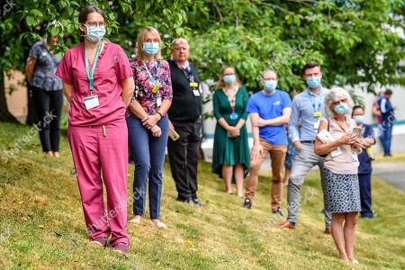 Editorial image of Prince Charles and Camilla Duchess of Cornwall visit to Gloucestershire Royal Hospital, UK - 16 Jun 2020
