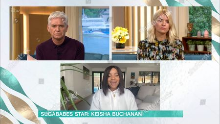 Stock Image of Holly Willoughby, Phillip Schofield and Keisha Buchanan