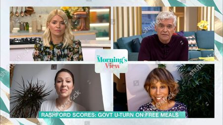 Holly Willoughby, Phillip Schofield, Nicola Thorp and Trisha Goddard