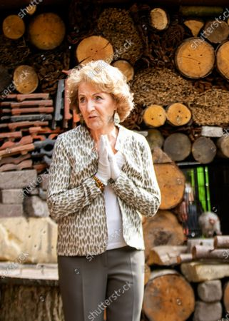 Princess Margriet at the opening of a food forest for dwarf monkeys in Apenheul in Apeldoorn. The Netherlands.