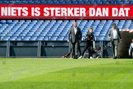Editorial picture of King Willem-Alexander visits De Kuip, Rotterdam, Netherlands - 17 Jun 2020