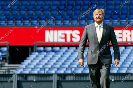 Editorial image of King Willem-Alexander visits De Kuip, Rotterdam, Netherlands - 17 Jun 2020