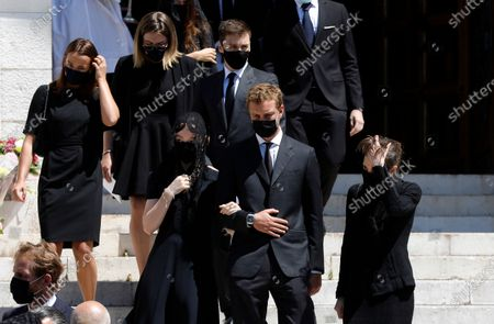 Editorial photo of Baroness Elizabeth-Ann De Massy funeral ceremony, Monaco - 17 Jun 2020