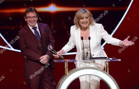 "Adam Woodyatt and Laurie Brett winners ""Best on Screen Partnership"" at the British Soap Awards 2015"