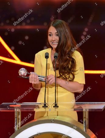 """Winner of Best Storyline Lacey Turner """"Stacey's Postpartum Psychosis""""  British Soap Awards, Show, Hackney Empire, London, UK - 28 May 2016"""