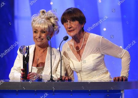 Barbara Windsor and June Brown accept the awards for Best British Soap 'The British Soap Awards' TV Programme. - 03 May 2008