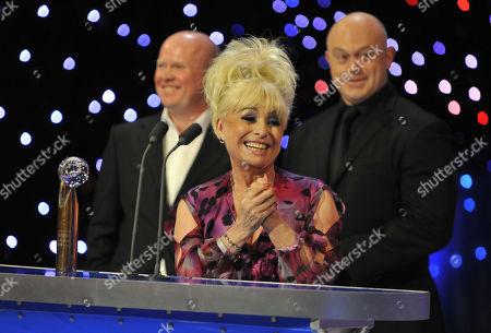 Steve McFadden, Barbara Windsor, Ross Kemp. Barbara Windsor Lifetime Achievement Winner  The British Soap Awards  - 09 May 2009