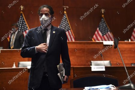 Rep. Jamie Raskin, D-Md., takes a seat during a House Judiciary Committee markup of the Justice in Policing Act of 2020 on Capitol Hill in Washington